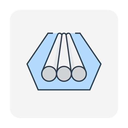 Pipeline construction industry icon, , editable stroke.