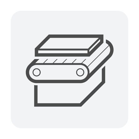 metal product and  production line vector icon design on white background.