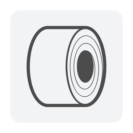 Steel roll vector icon design on white background.