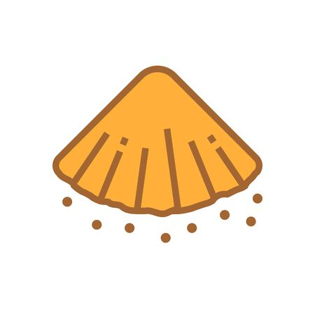 pile of soil vector icon design.