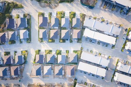 Aerial view of housing suitable for housing development business concept. Stock Photo