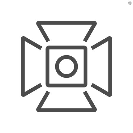 Film production camcorder hood  vector icon design, 48x48 pixel perfect and editable stroke.