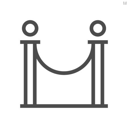 Barricade stand of theater vector icon design, 48X48 pixel perfect and editable stroke.