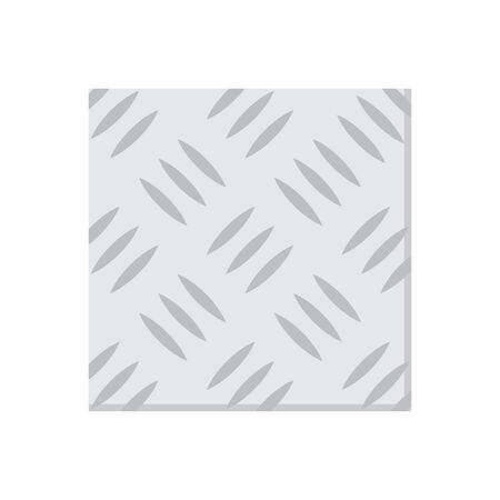 Steel plate vector icon design on white background.