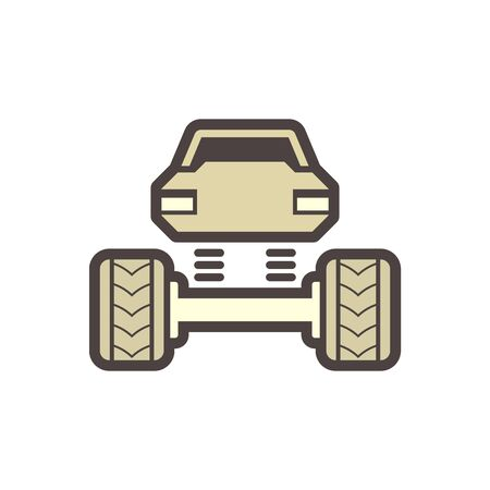 Off road truck vector icon design element.