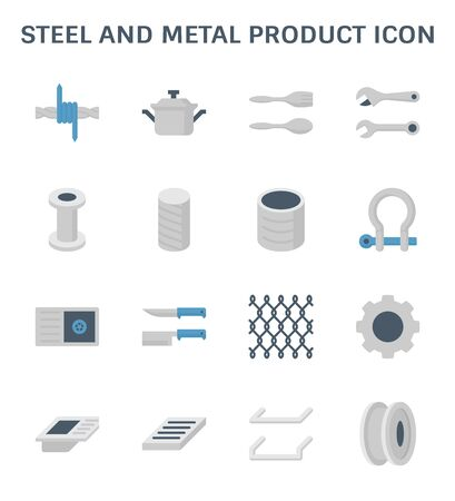 Steel and metal product vector icon design.