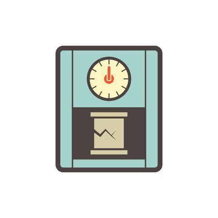 Concrete strength testing work vector icon design.