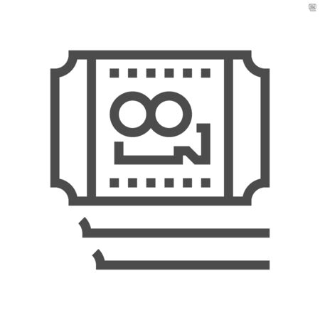 Movies ticket vector icon design,  48X48 pixel perfect and editable stroke.
