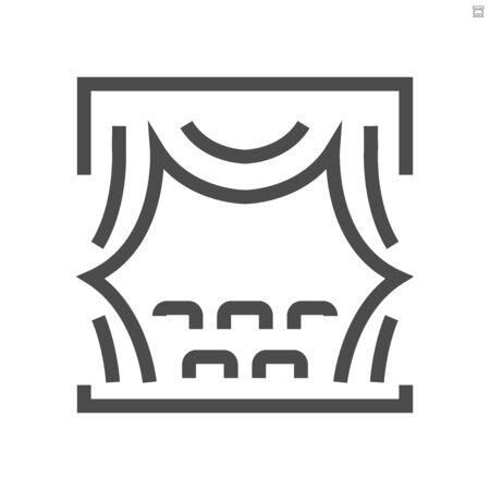 Theater and curtain vector icon design,  48X48 pixel perfect and editable stroke.