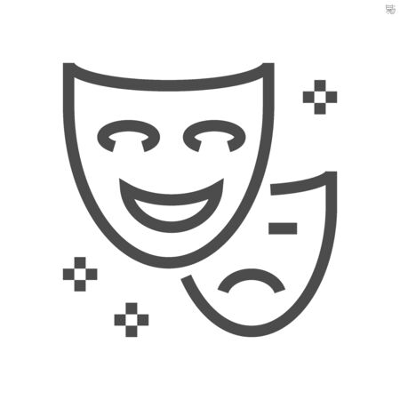 Performance full face mask vector icon design,  48X48 pixel perfect and editable stroke.