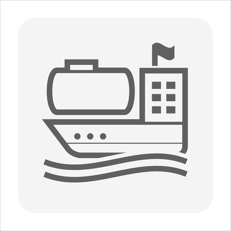 Tanker oil and gas vector icon design for oil gas transportation concept design. Stock Illustratie