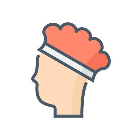 Cap hair or safety equipment vector icon design, 64x64 pixel perfect and editable stroke. Reklamní fotografie - 140645913