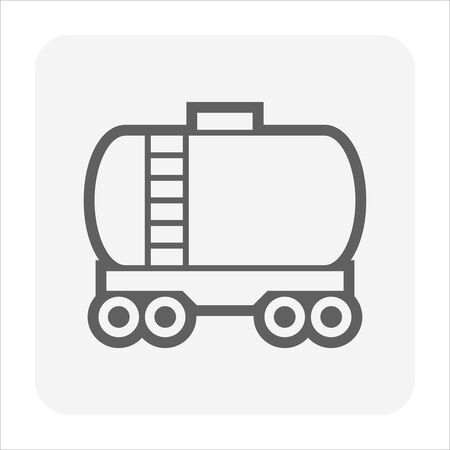 Oil gas tank vector icon design for oil gas industrial concept design.