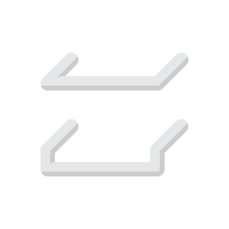 Steel handrail vector icon design on white background.