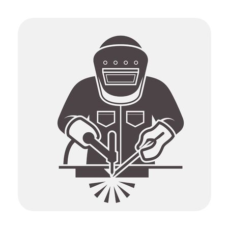 Welder and welding vector icon design. Ilustrace