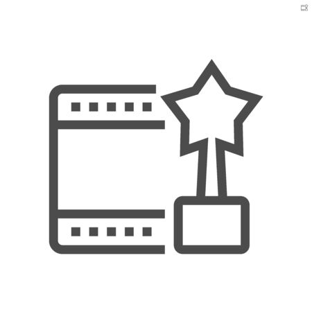 Movies star of film production  vector icon design,  48X48 pixel perfect and editable stroke.