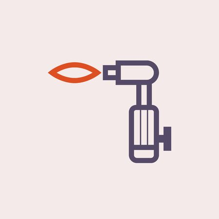 Gas cutting tools vector icon design.