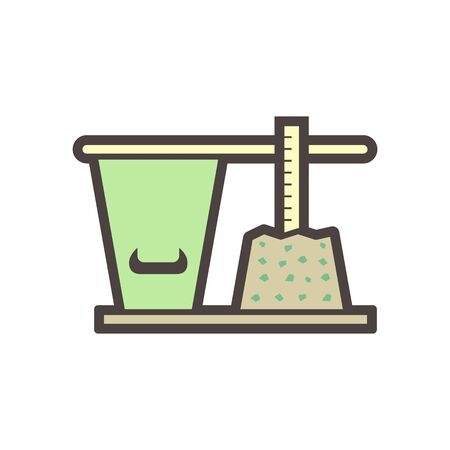 Concrete slump testing vector icon design. Stock Illustratie