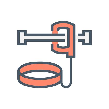 Safety belt or safety equipment vector icon design, 64x64 pixel perfect and editable stroke.