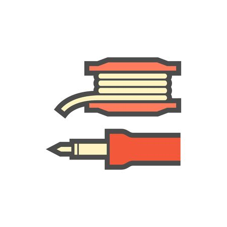 Solder tools and lead material vector icon design.