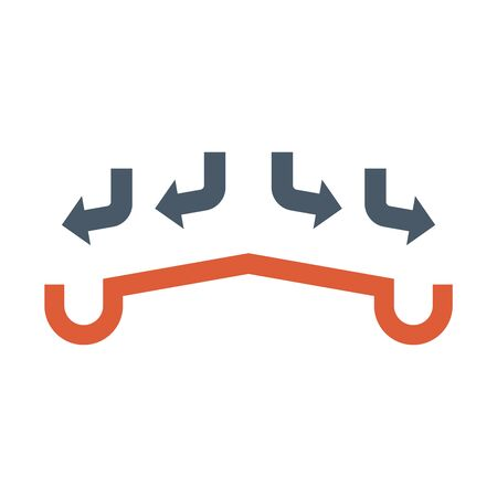 Gutter and drainage system icon. Ilustracja