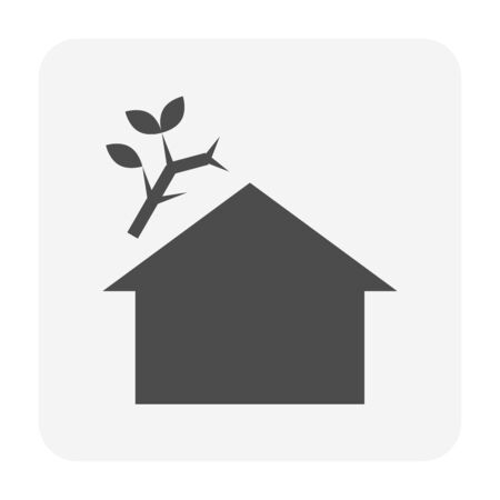 Roof dirty vector icon design for home problem graphic design element.