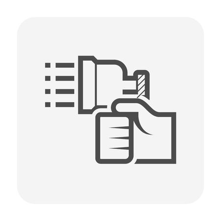 Air conditioner cleaning and tools icon design.