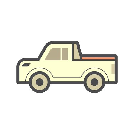 pickup truck accessory or tonneau cover or bed truck cover  vector icon design.