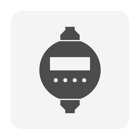 Timer switch for electricity control icon design. Ilustrace