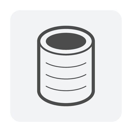 Aluminium can vector icon design on white background.