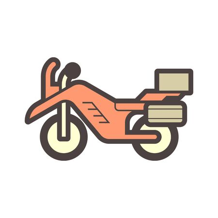 Off road motorcycle vector icon design element. Illustration