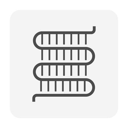 Klimaanlagenspule sauberer Zustand Icon-Design. Vektorgrafik