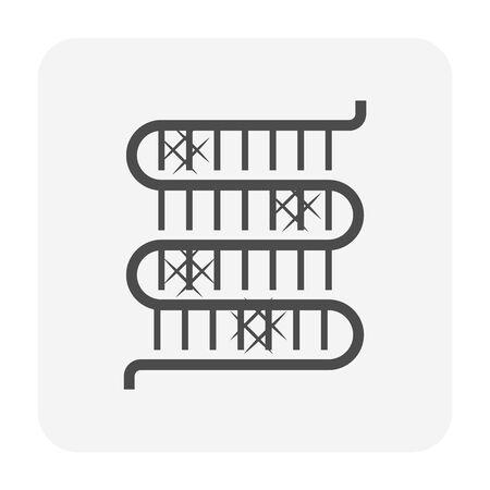 Klimaanlagen-Spule schmutziger Zustand Icon-Design. Vektorgrafik