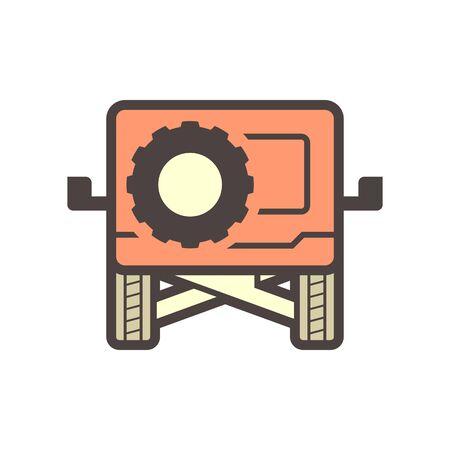 Off road suv vehicle vector icon design. Vektorové ilustrace