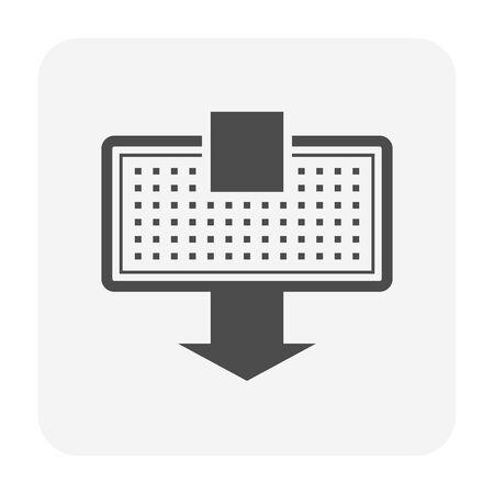Air flow of air conditioner icon design.