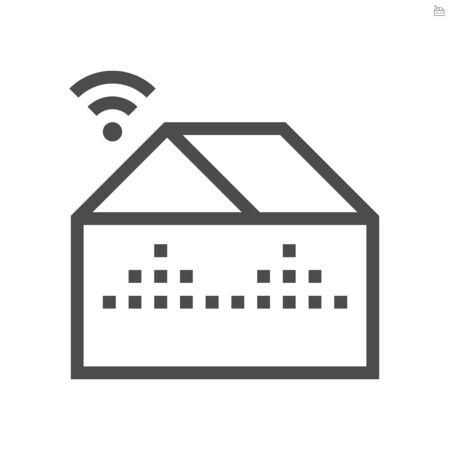 Smart farm and wireless technology vector icon design. Stock Illustratie