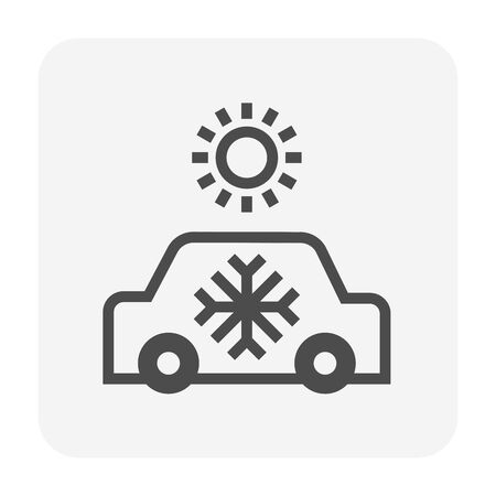 Air conditioner and car vector icon design.