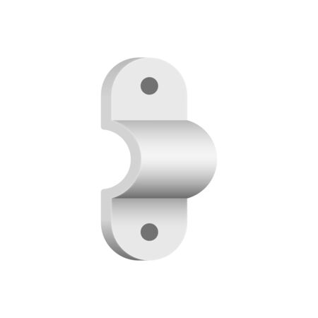 Vector icon of pipe support for plumbing and piping work.