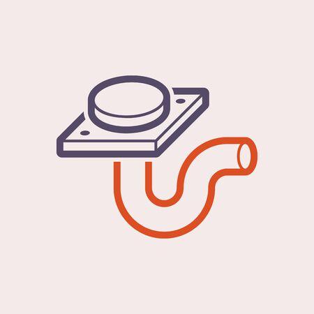 Floor drainage equipment vector icon design.