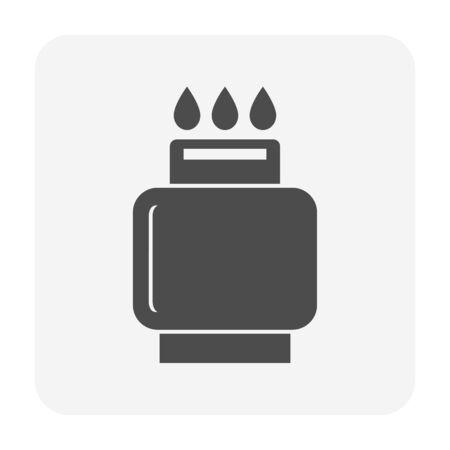 LPG gas tank vector icon design for gas industrial concept design.