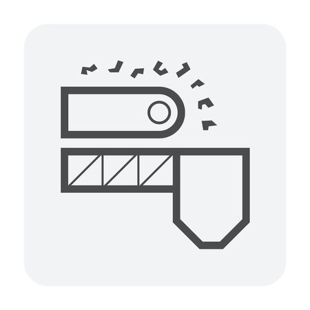 Ore and production line vector icon design on white background. Stock Illustratie