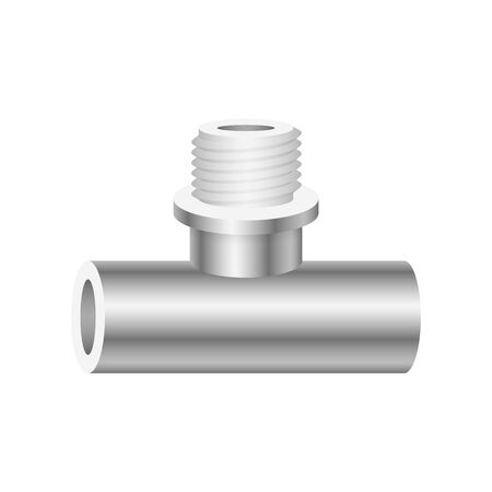 Vector icon of pipe fitting and part for plumbing and piping work.