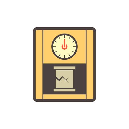 Concrete strength testing work vector icon design.