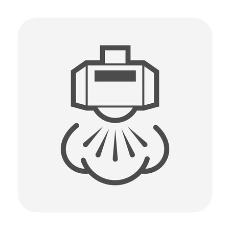 Automatic water sprinkler and irrigation system icon design.
