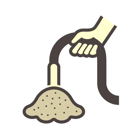 Vibration concrete work vector icon design on white background.