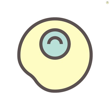 Fried egg vector icon design for food graphic design element work.,  48X48 pixel perfect and editable stroke. Illustration