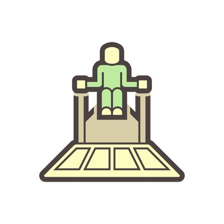 Concrete slab polish equipment vector icon design.