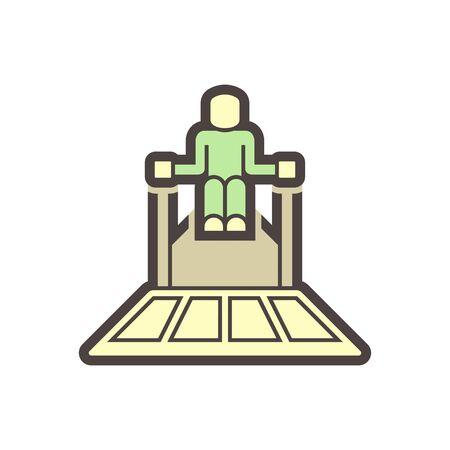 Concrete slab polish equipment vector icon design.