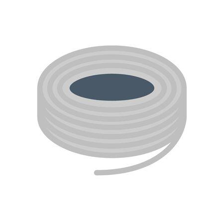 Steel wire vector icon design on white background.