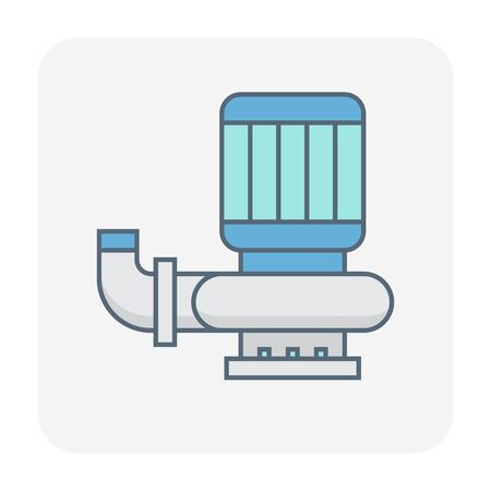 Water pump icon design, black and outline.